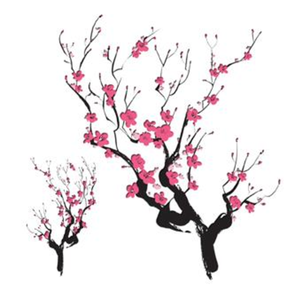 Asian Cherry Blossoms Temporary Tattoo | Free Images at ...