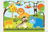 Baby Shower Animal Clipart Image