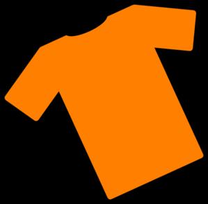 Orange T-shirt Angled Clip Art at Clker.com - vector clip ...