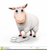 Funny Sheep Clipart Image