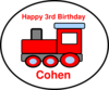 Cohens Birthday Train 3 Clip Art