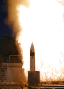 A Standard Missile-3 (sm-3) Is Launched From The Aegis Cruiser Uss Lake Erie (cg 70) As Part Of The Missile Defense Agency Image