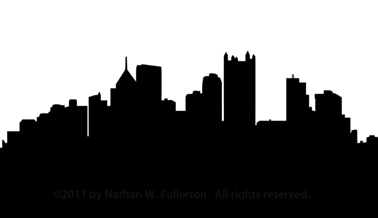 Pittsburgh Skyline Silhouette Dpi | Free Images at Clker ...