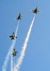 The U.s. Navy S Flight Demonstration Team, The Blue Angels Put On A Spectacular Show During The Annual Naval Air Station Lemoore Air Show. Image
