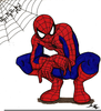 Spider Man Black And White Clipart Image