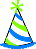 Green And Blue Party Hat Clip Art