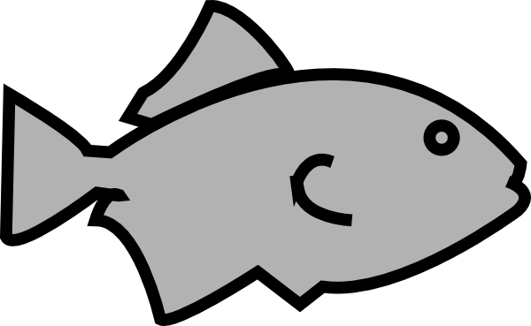 fish outline grey clip art at clkercom vector clip art