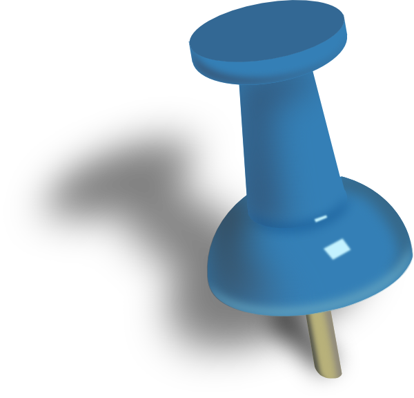 pushed pin clip art at vector clip art online. Black Bedroom Furniture Sets. Home Design Ideas