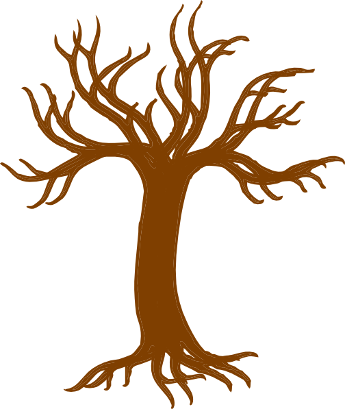 Bare Tree With Roots Clip Art at Clker.com - vector clip ...