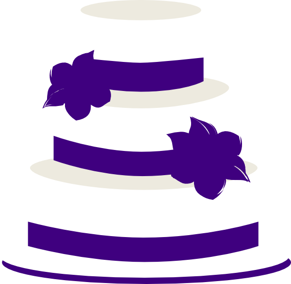 Purple Wedding Cake Clip Art