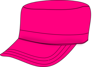 Pink Army Hat Clip Art
