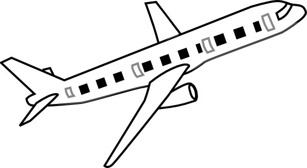 Line Drawing Jet : Airplane clip art at clker vector online