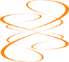 Orange Curve Clip Art