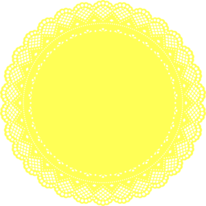 Yellow Lace Doily  Clip Art