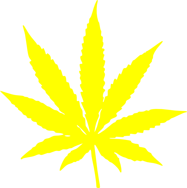 Cannabis Leaf Stars And Stripes Yellow Clip Art At Clker Com Vector Clip Art Online Royalty