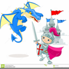Knight Dragon Clipart Image
