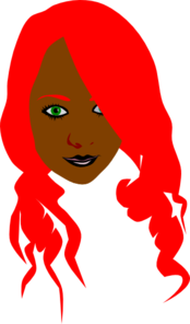 Girl With Red Hair Clip Art
