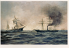 This 1922 Artwork Depicts The Sinking Of The Confederate Ship Css Alabama. Image