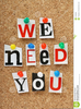 We Want You Poster Clipart Image