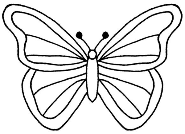 Free Coloring Butterfly Clipart | Free Images at Clker.com ...