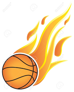 Basketball flaming. In flames clipart free