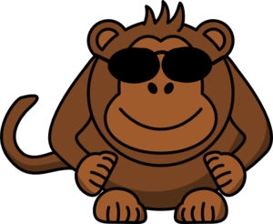 Monkey With Sunglasses Clip Art