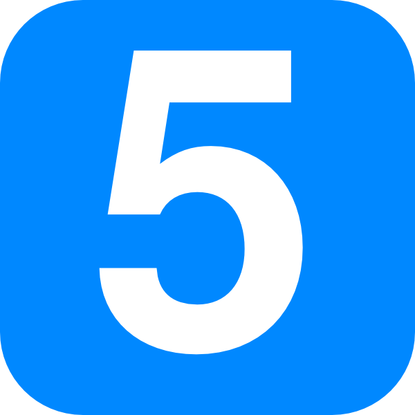 Blue Number Five Clip Art At Clker Com