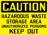 Caution Hazardous Waste Storage Unauthorized Keep Out Ca Osha Image