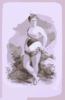 [woman In Burlesque Costume In Front Of Rocky Outcrops] Clip Art