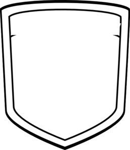 Blank Shield 222  Clip Art