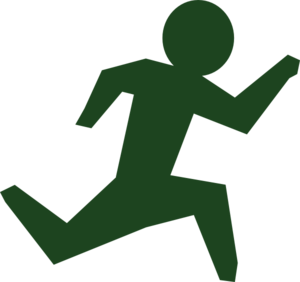 Running Man Race Green Clip Art