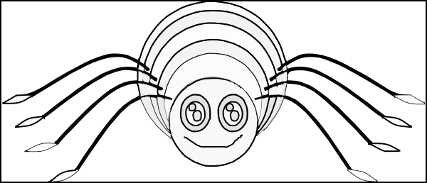 Spider outline coloring clip art at vector - Spider outline clip art ...