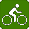 Bike Trail Symbol Green Clip Art