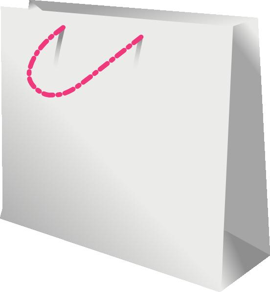 Shopping Bag Pink Handle Clip Art At Clker Com Vector