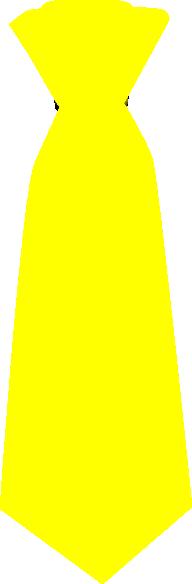 yellow tie clip art at clkercom vector clip art online