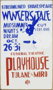 Streamlined Shakespeare - Winter S Tale And Midsummer Night S Dream Cut Versions : Federal Theatre Playhouse, Tulane & Miro. Clip Art