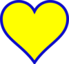 Michigan Blue Gold Heart Clip Art
