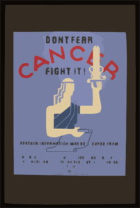 Don T Fear Cancer Fight It!  / Jr. Clip Art