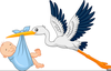 Free Clipart Stork Image