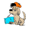 Sick Puppy Clipart Image