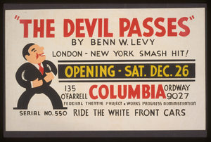 The Devil Passes  By Benn W. Levy Image
