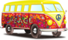 Hippy Vw Bus Clip Art