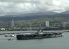 Uss Abraham Lincoln (cvn 72) Makes A Port Call At Pearl Harbor, Hawaii, On Its Way Home Image