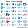 Blue Icon Library Image