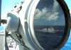 Uss Mahan - Signal Light Reflection Image
