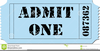 Admit One Tickets Clipart Image