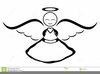 Free Black Angels Clipart Image