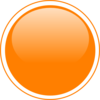 Glossy Orange Circle Button Clip Art