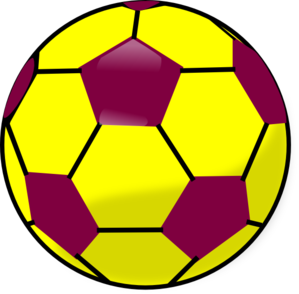 Blue And Yellow Soccerball Clip Art