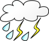 Cloud With Rain And Lightening Clip Art